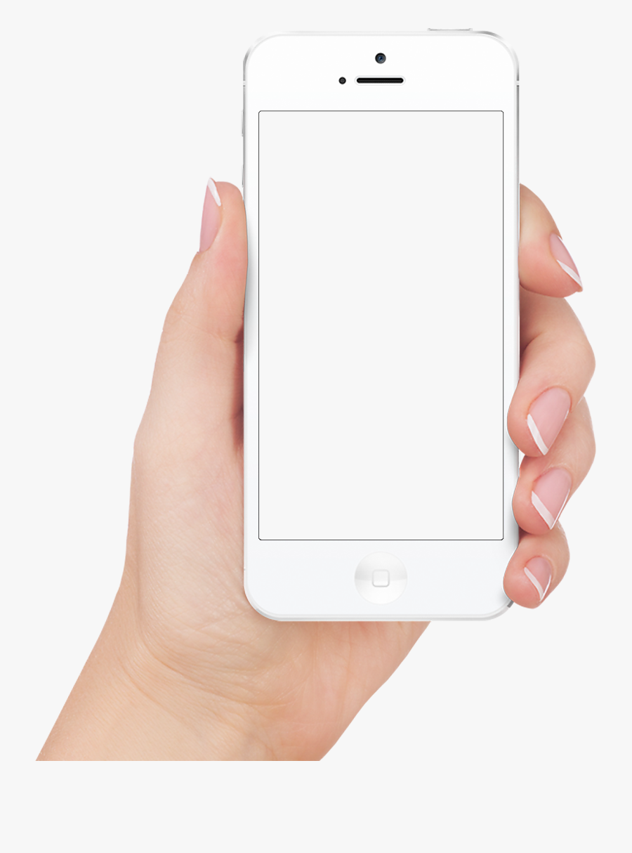 Iphone With Hand Png, Transparent Clipart