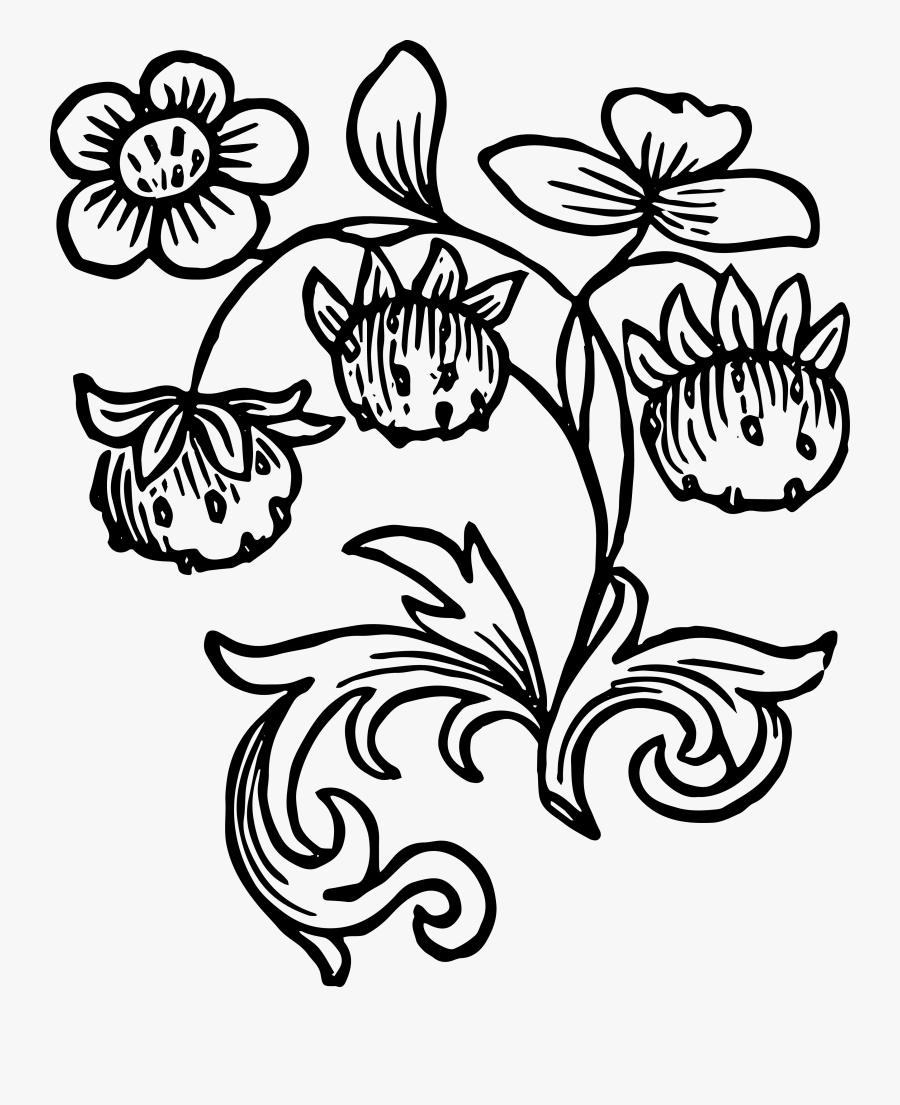 Clip Art Royalty Free Vintage Clip Art - Strawberryberry Clipart Black And White, Transparent Clipart
