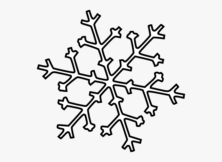 Snowflake Clip Art At - White Snowflake Outline Png, Transparent Clipart