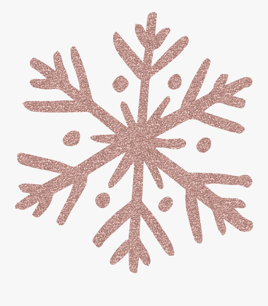 Transparent Snowflake Png Background - Rose Gold Christmas Png, Transparent Clipart