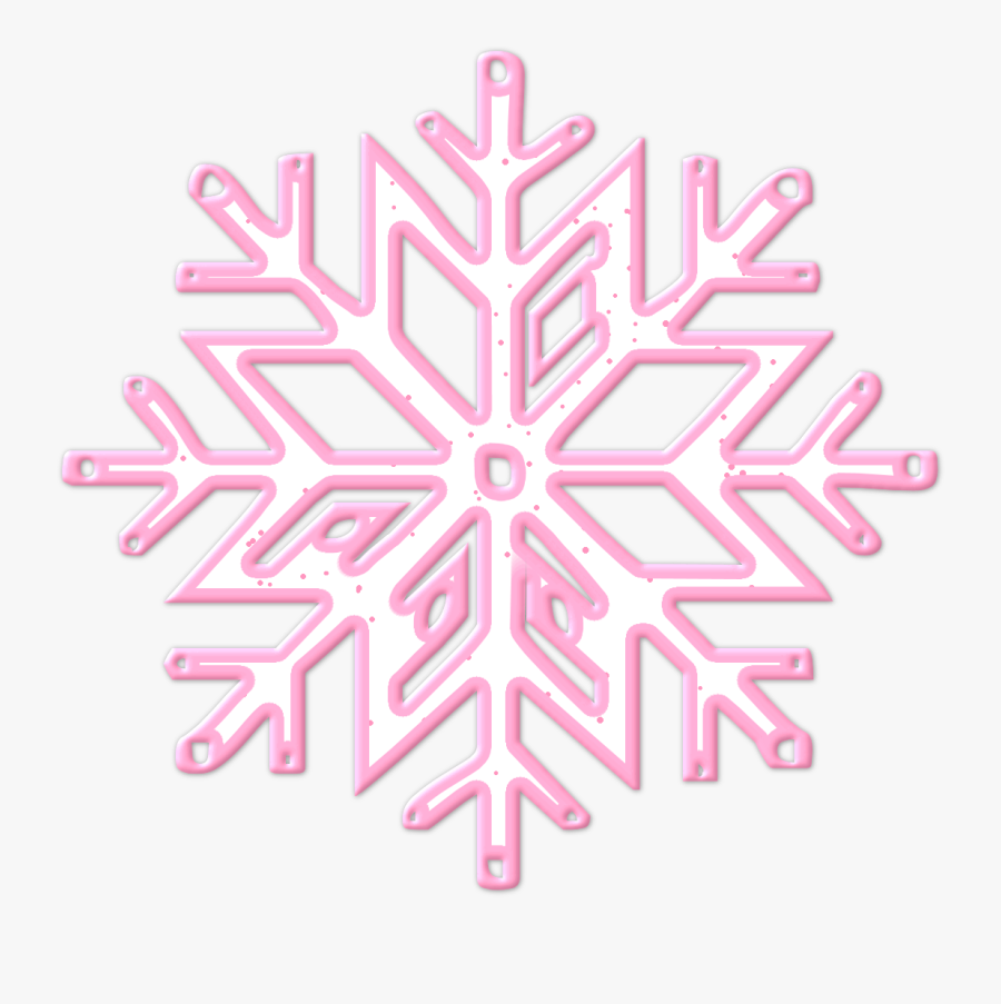 Pin By Baciu Mihaela On Photo - Pink And Silver Snowflake Clipart, Transparent Clipart