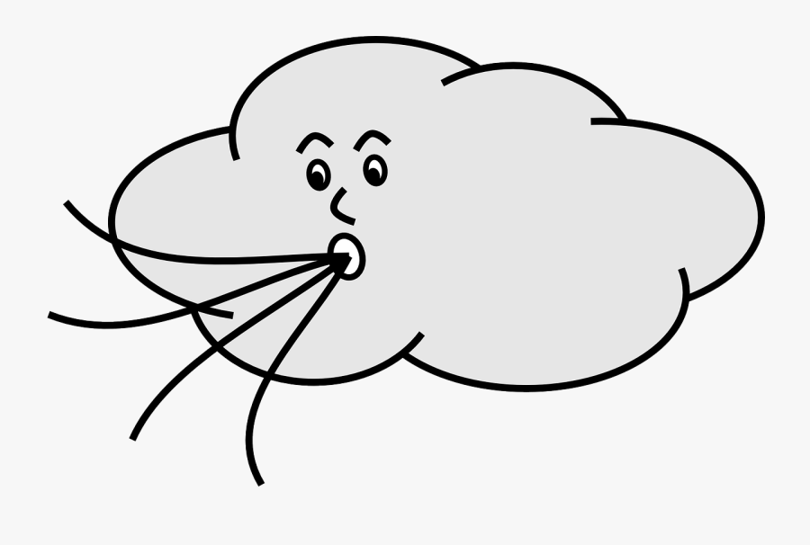 Weather Clipart Wind - Cartoon Wind Blowing Gif, Transparent Clipart
