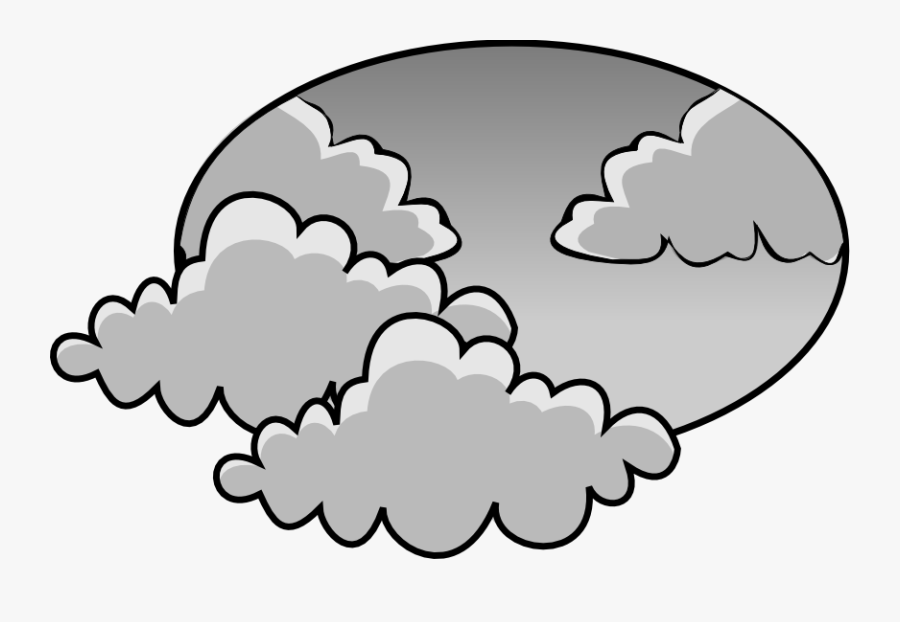 28 Collection Of Cloudy Clipart - Cloudy Weather Clipart Black And White, Transparent Clipart