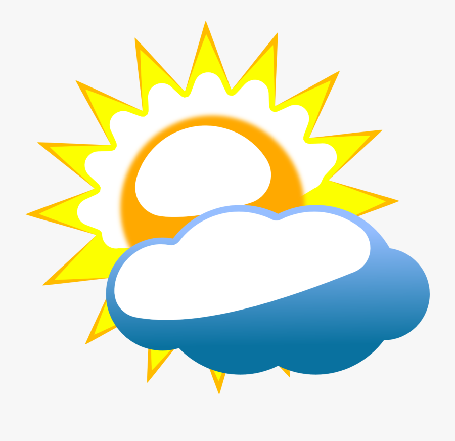 Partly Cloudy Weather Clipart Cliparts And Others Art - Nepal Flag Moon, Transparent Clipart