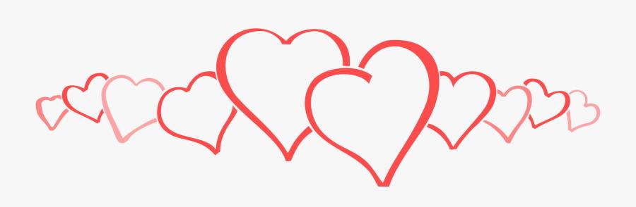 "Sumoflam""s Singlewidesumoflam""s Singlewide - Row Of Hearts Clip Art, Transparent Clipart"