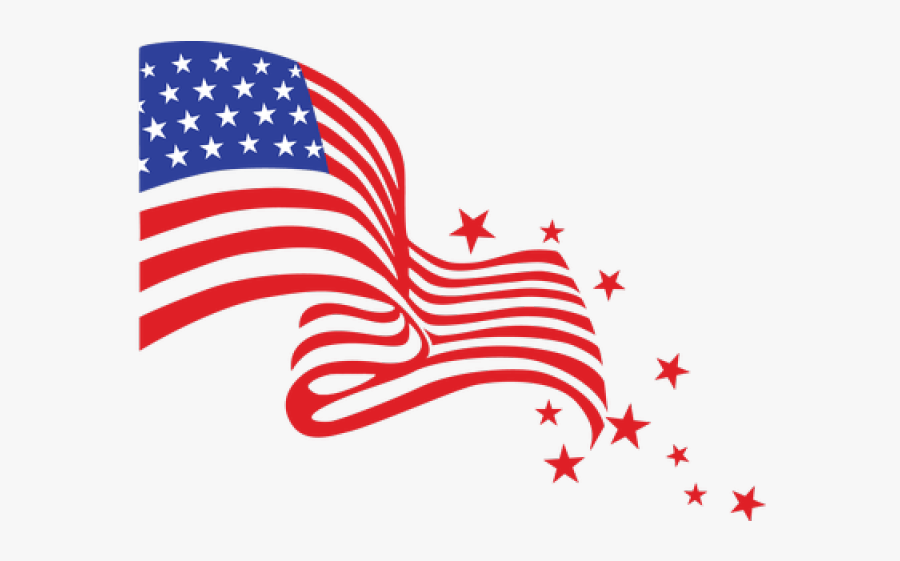 4th Of July Fireworks Clipart - Transparent Background American Flag Clipart, Transparent Clipart