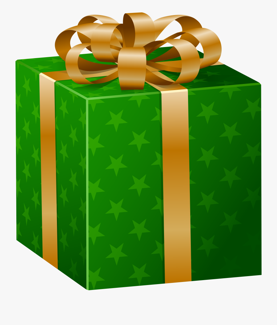 Transparent Christmas Gifts Clipart - Green Gift Box Png, Transparent Clipart