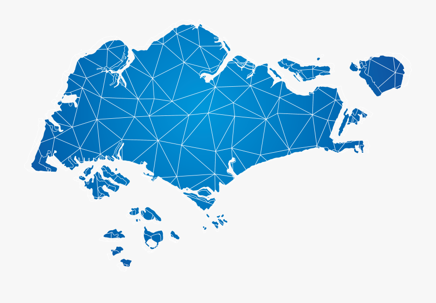 Blue Map Singapore Of Photography Royalty-free Vector - Singapore Map Vector Png, Transparent Clipart