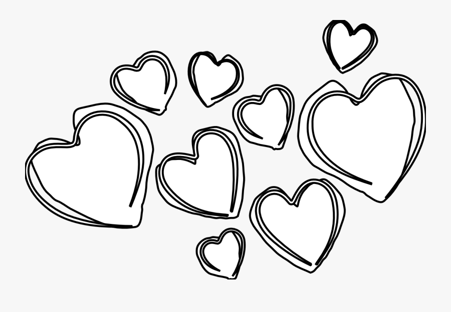 Double Heart Black And White Hearts Clip Art Clipartfest - Black And White Hearts Clip Art, Transparent Clipart