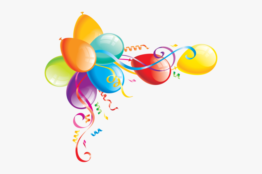 Royalty-free Clipart Illustration Of An Arch Of Streamers - Clipart Balloons, Transparent Clipart