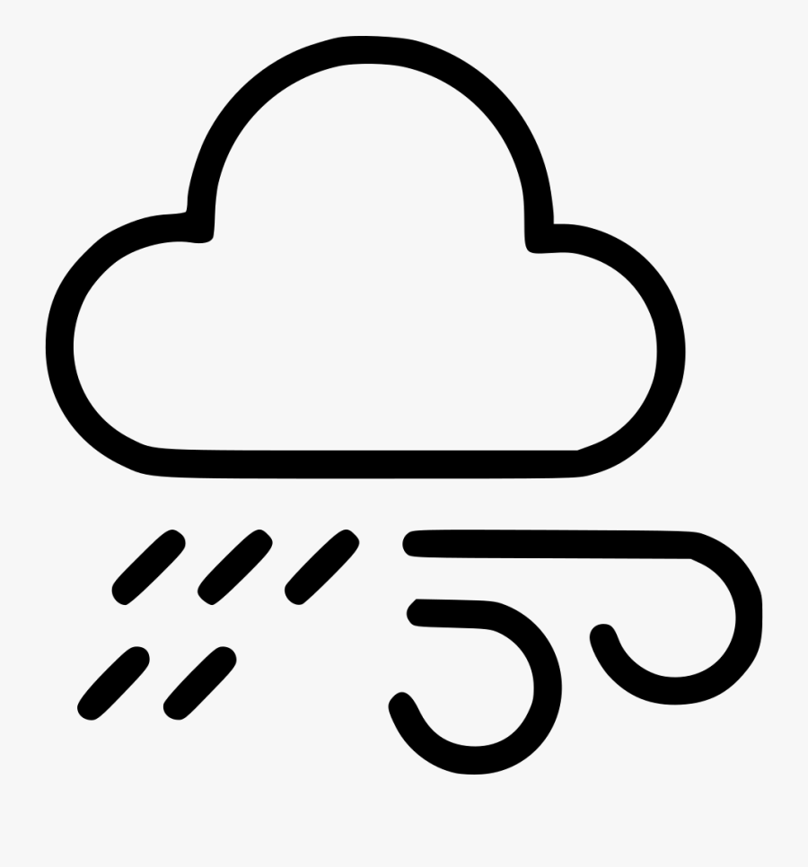Weather Rain Cloud Wind Cloudy Lightning Comments - Cloud Wind Icon Png, Transparent Clipart
