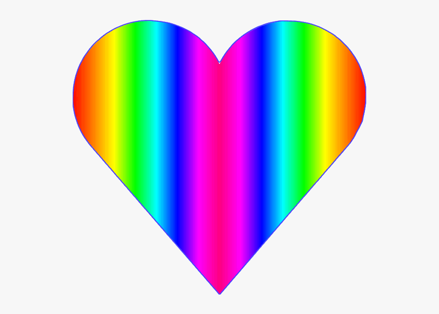 Rainbow Heart Love Hearts Clipart , Png Download - Love Rainbow Heart Clipart, Transparent Clipart