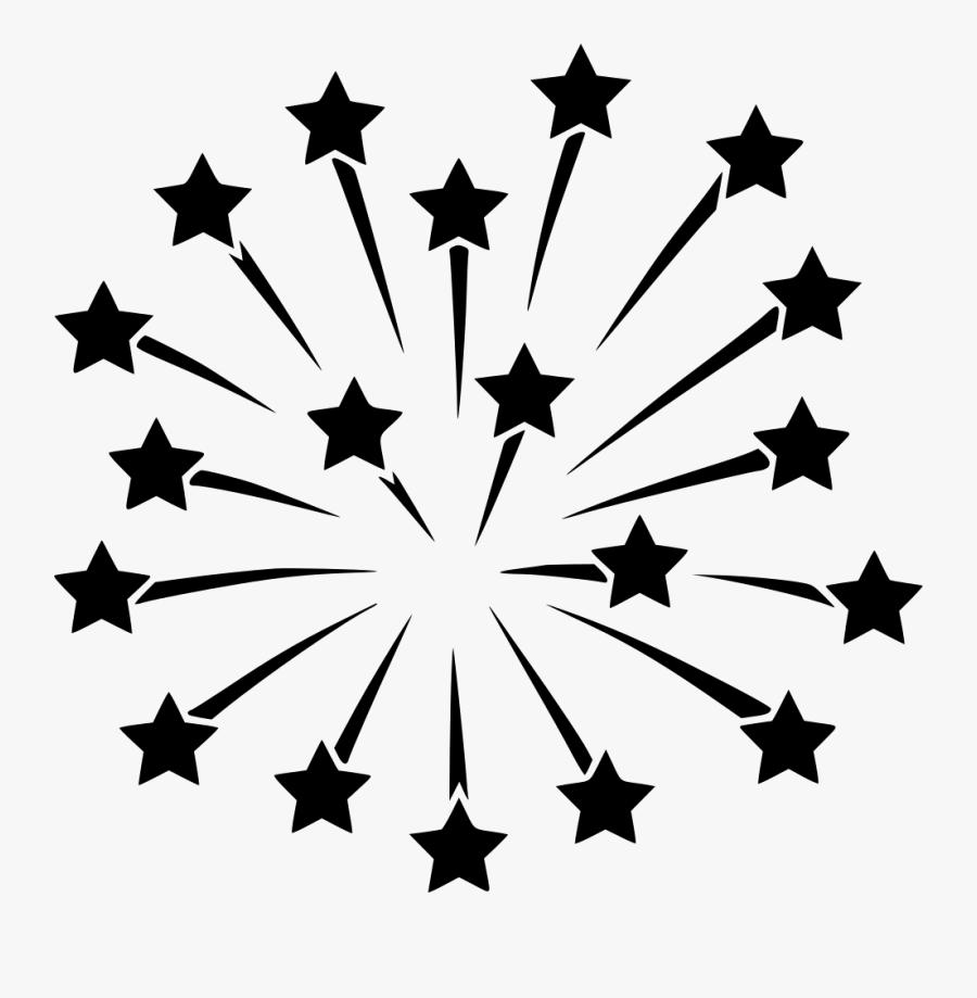 Transparent Black Firework Clipart - Fireworks Png Black And White, Transparent Clipart