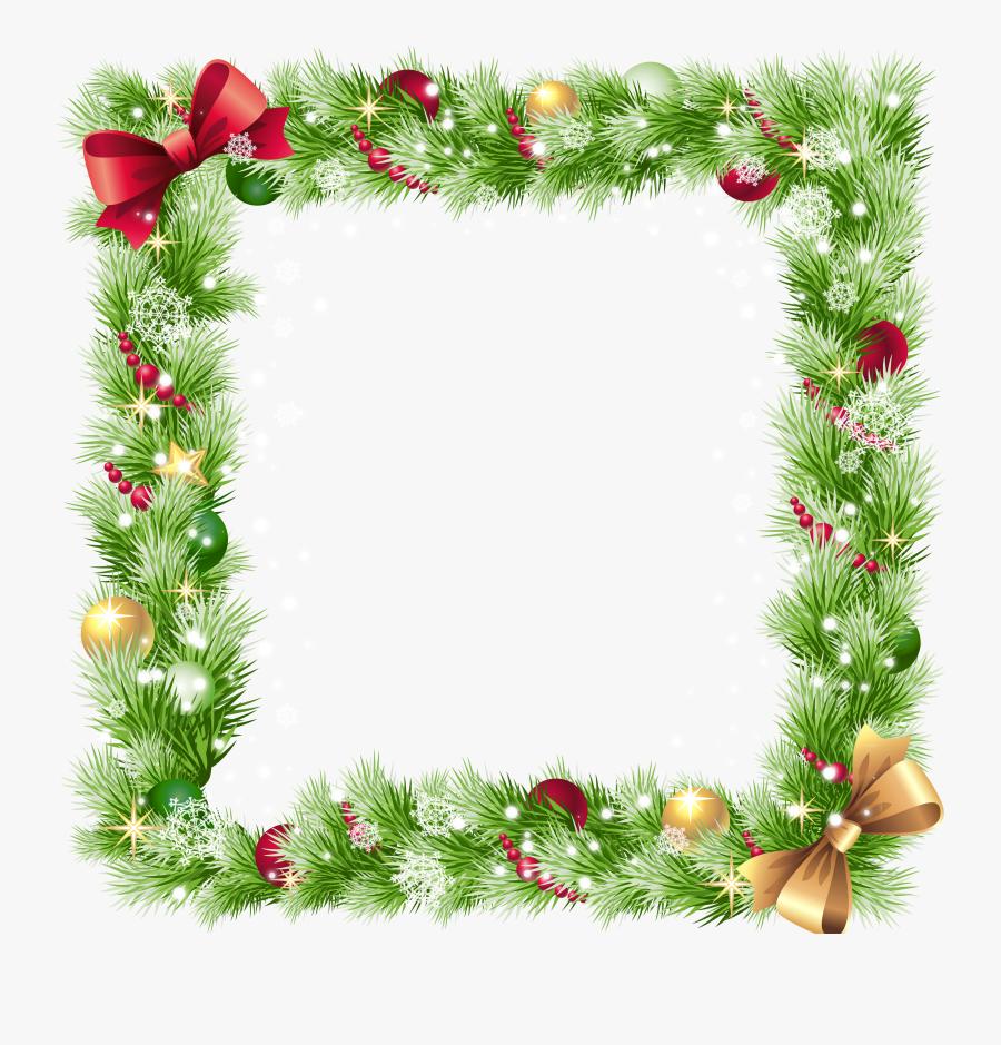 Snowflake Clipart Transparent Border - Transparent Background Christmas Borders, Transparent Clipart