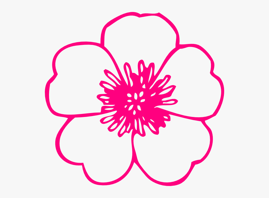 How To Set Use Pink Daisy Clipart - Poppy Flower Clipart Black And White, Transparent Clipart