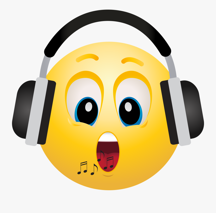 Headphone Emoticon Emoji Clipart Info - Head With Headphones Png, Transparent Clipart