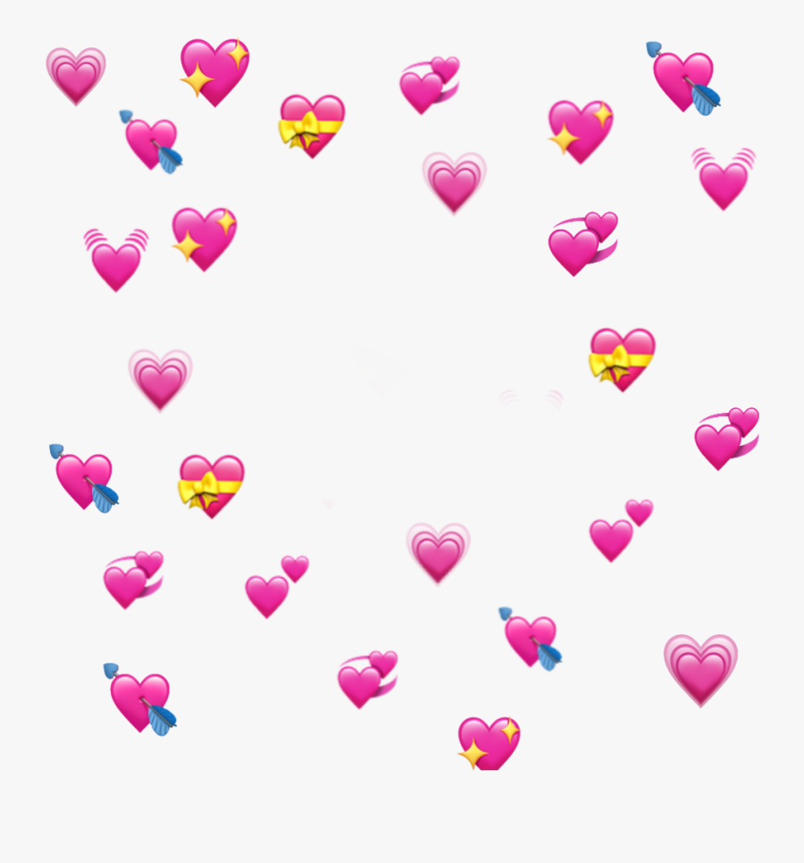 Edits Kermit The Frog With Hearts Clipart , Png Download - Heart Emoji Meme Transparent, Transparent Clipart