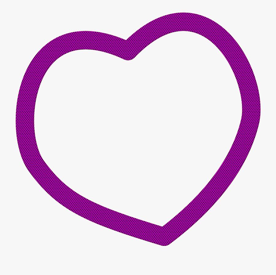 Purple Heart Clip Art - Heart, Transparent Clipart