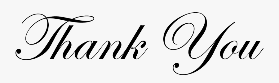 Thank You Clip Art Free - Formal Thank You Clipart, Transparent Clipart