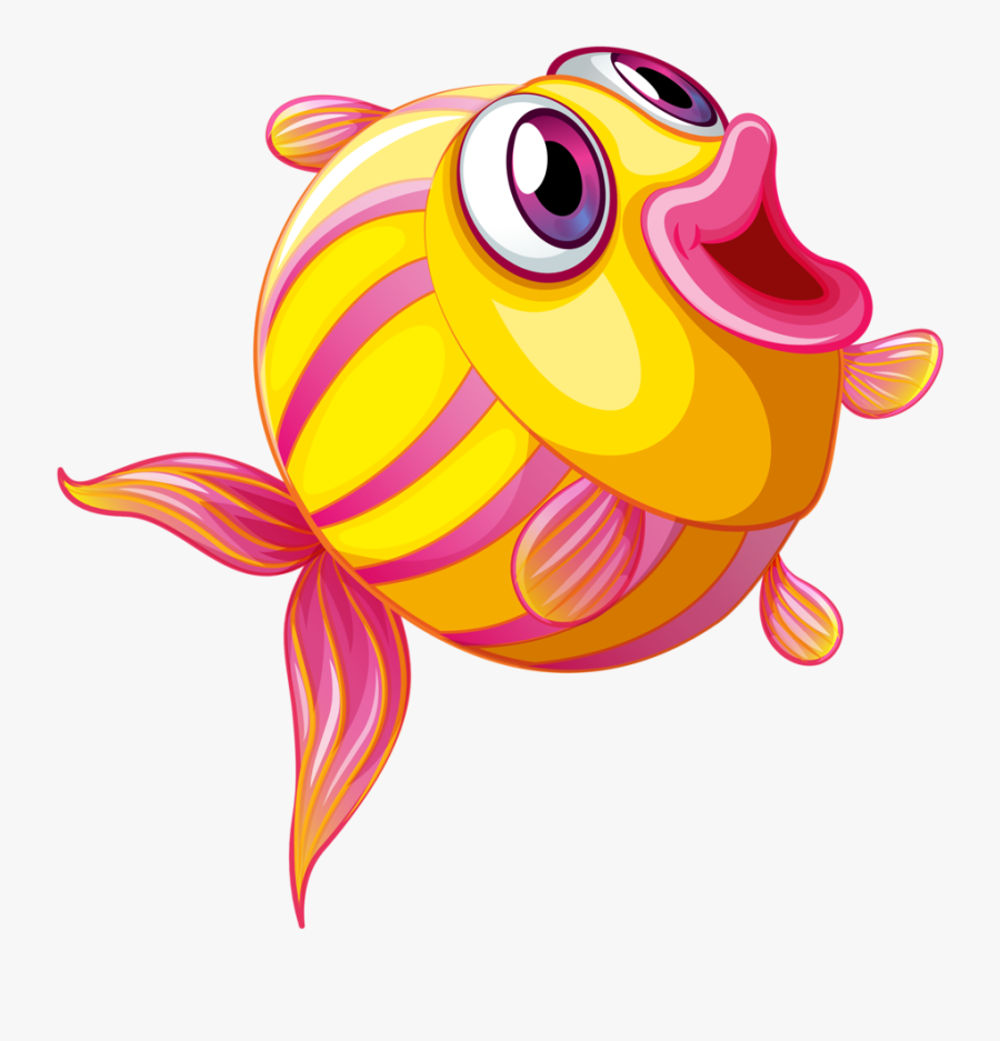 Royalty-free Clipart Illustration Of A Digital Collage - Fish Cartoon Images Png, Transparent Clipart