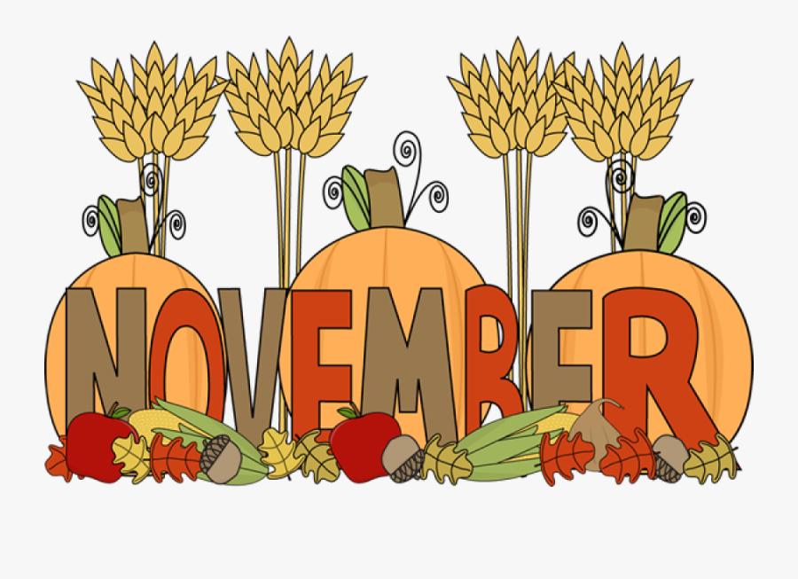 Clipart Happy November - November Clipart, Transparent Clipart