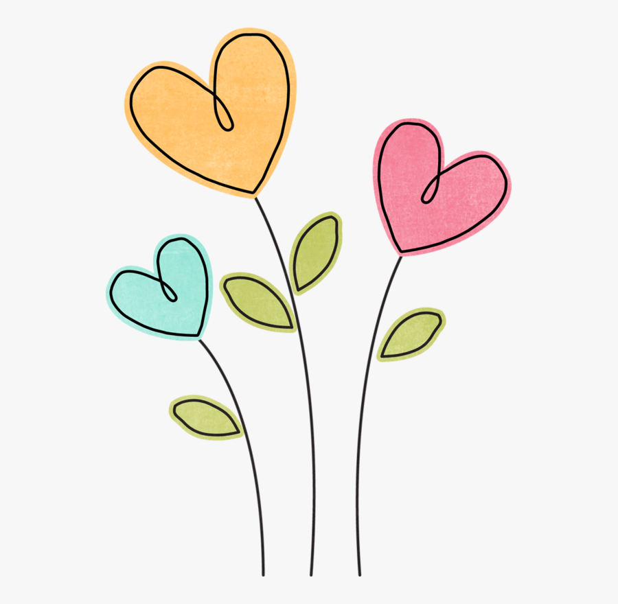 Cake Clipart, Heart Clip Art, Flower Clipart, Easy - Flowers And Hearts Clipart, Transparent Clipart