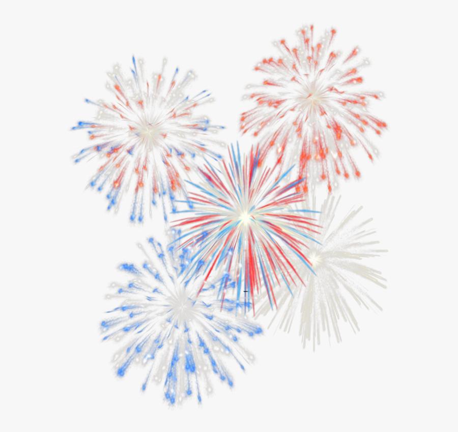 Vector Transparent Stock Firework Clipart No Background - Transparent 4th Of July Fireworks, Transparent Clipart