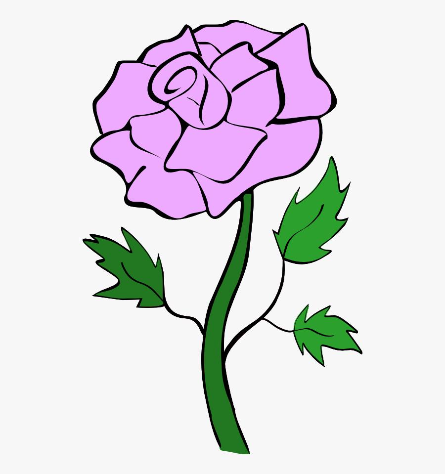Rose Clipart Royalty Free - Rose Flower Clip Art, Transparent Clipart
