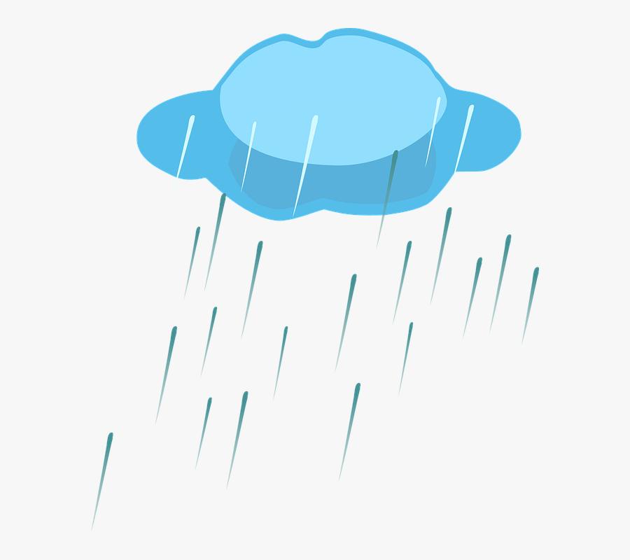 Rain, Cloud, Nature, Weather, Sky, Storm, Thunder - Rain Clipart, Transparent Clipart