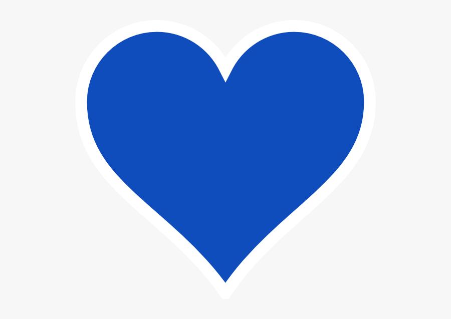 Thumb Image - Blue Heart Vector Png, Transparent Clipart