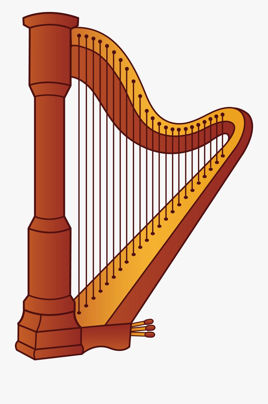 Harp Clipart, Transparent Clipart