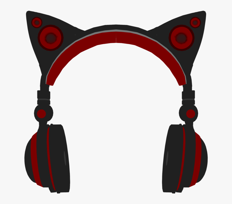 Transparent Headphone Clipart - Cat Ear Headphones Art Png, Transparent Clipart