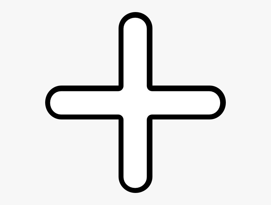 Plus Clip Art At Clker - White Addition Symbol Png, Transparent Clipart