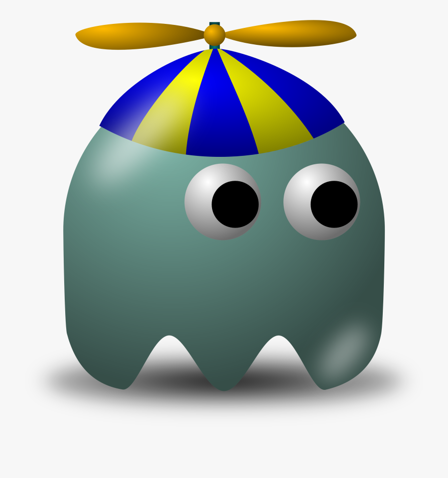 Online Royalty Free Clipart Geek Kids, Free Collection - Brown Pac Man Ghost, Transparent Clipart