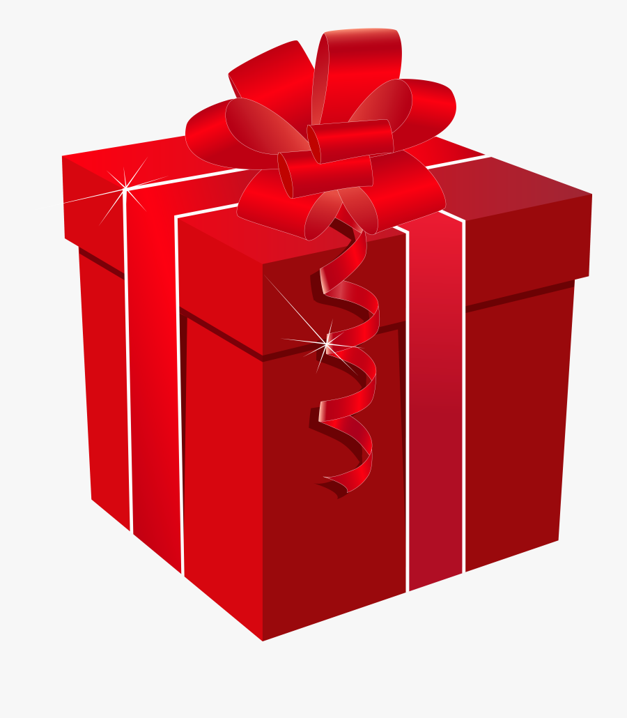 Graphic Royalty Free Present Clipart Png - Transparent Gift Box Red, Transparent Clipart