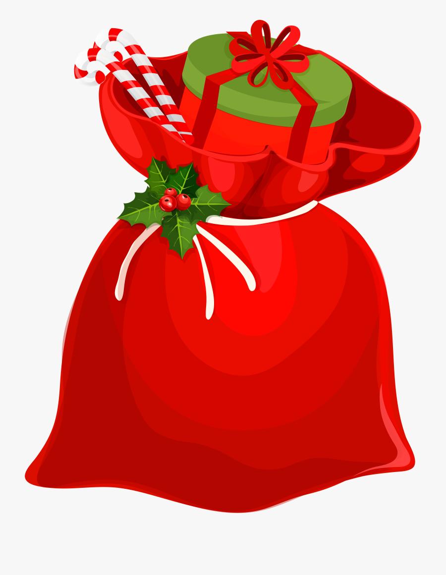 Christmas Santa Bag Png Clip Art Image, Transparent Clipart