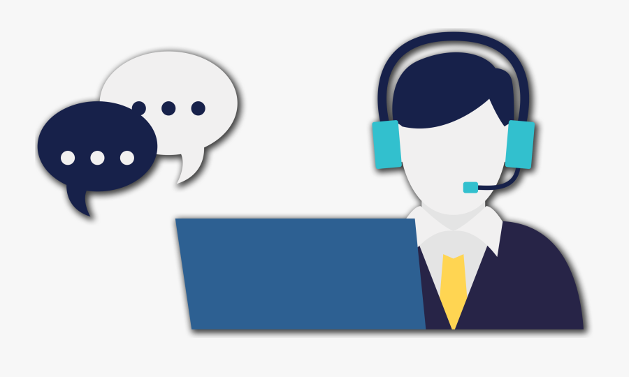 Headphones Clipart Student Centers - Transparent Cartoon Call Center, Transparent Clipart