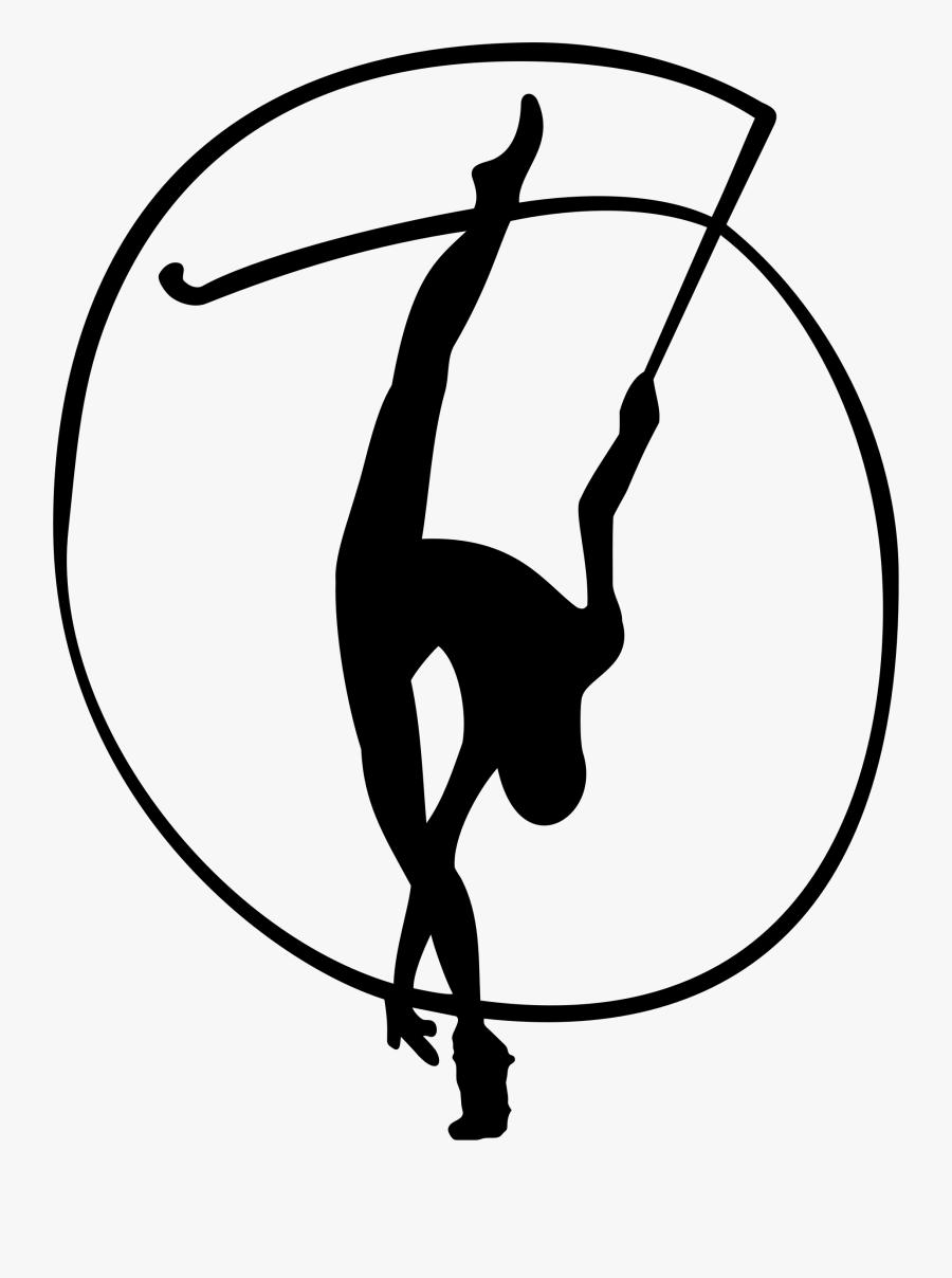 Rhythmic Gymnastics With Ribbon - Rhythmic Gymnastics Clipart, Transparent Clipart