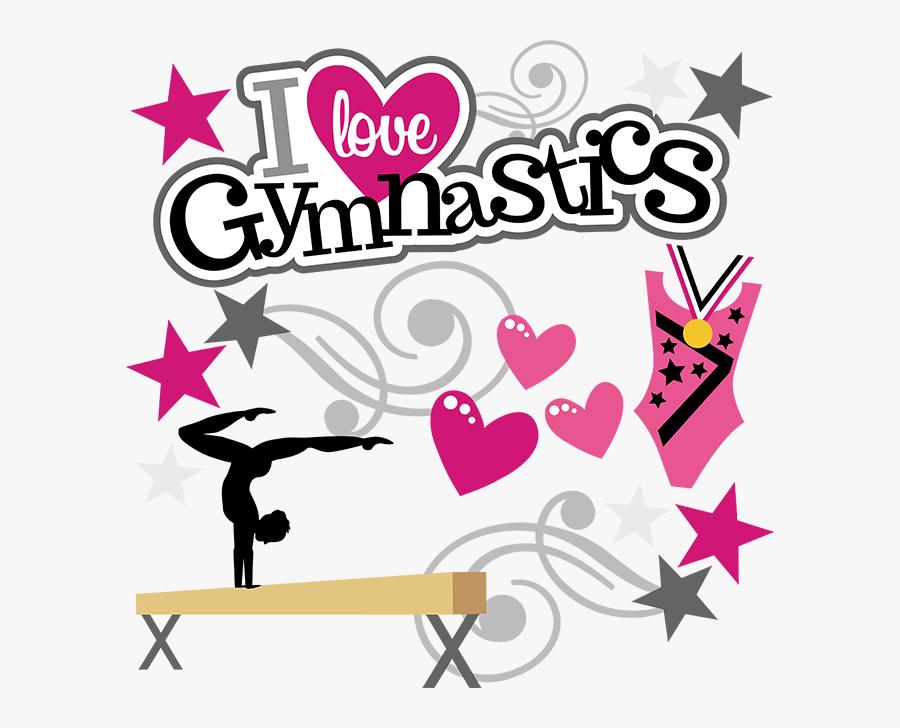 I Love Gymnastics Clipart - Love Gymnastics Clipart, Transparent Clipart