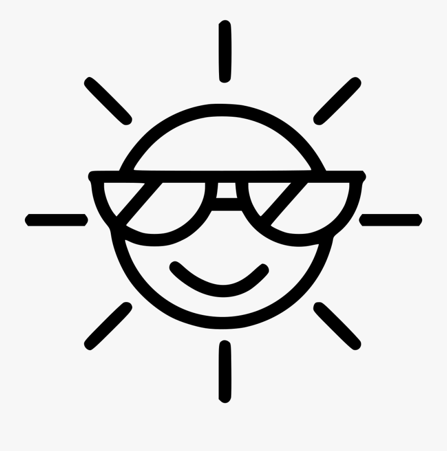 Sunglass Svg Royalty Free - Sun Sunglasses Icon Png, Transparent Clipart