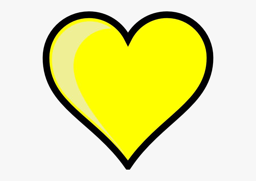 Love Heart Clipart Royalty Free - Yellow Heart Clip Art, Transparent Clipart