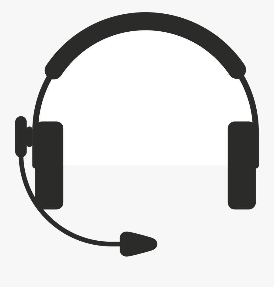 Headphone Clipart Output Device - Call Center Headphones Vector, Transparent Clipart