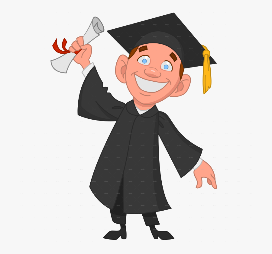 College Cliparts For Free Clipart Graduate And Transparent - University Student Cartoon Png, Transparent Clipart