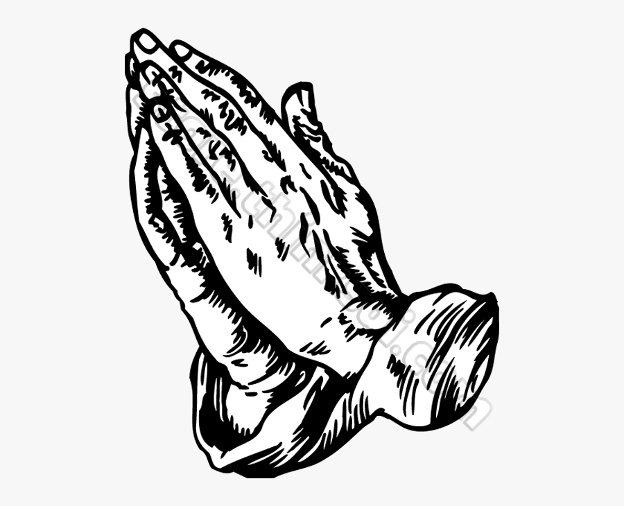 Praying Hands Prayer Clipart Free Images Transparent - Black And White Praying Hands, Transparent Clipart