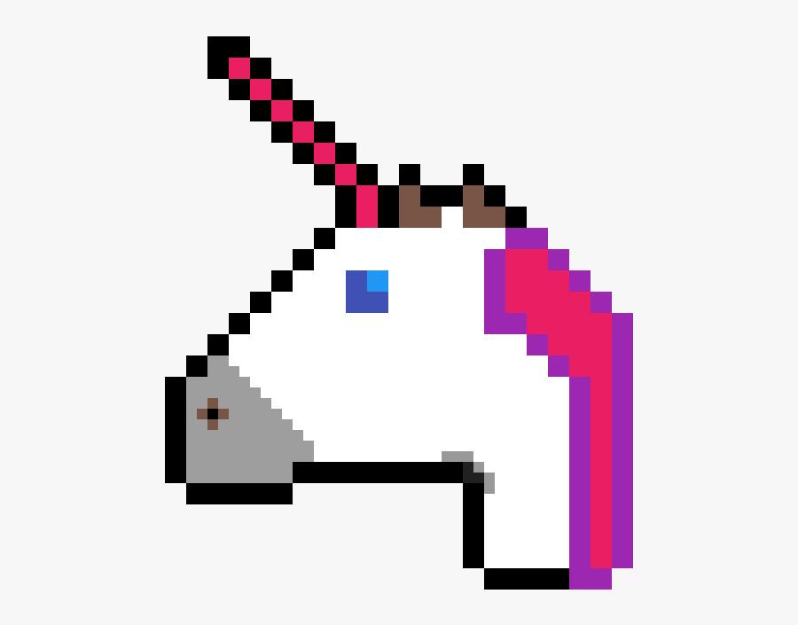 Pixel Art Unicorn Emoji Clipart , Png Download - Roblox Bacon Hair Pixel Art, Transparent Clipart