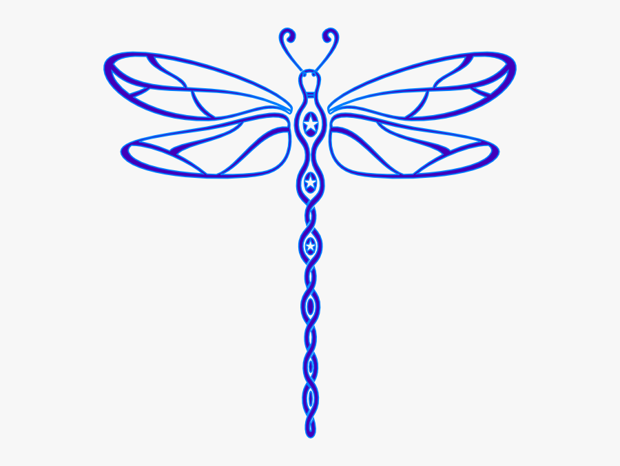 Dragonfly - Outline - Clipart - Free Dragonfly Clipart, Transparent Clipart