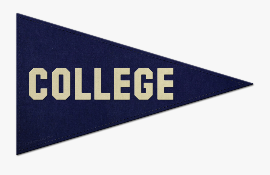 School Pennant Cliparts - College Pennant Clipart, Transparent Clipart