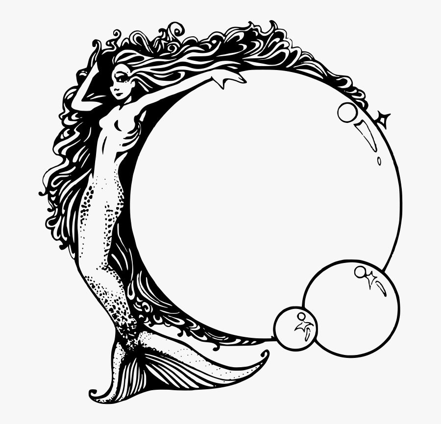 Real Mermaid Pictures Black And White, Transparent Clipart