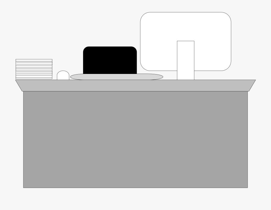 Computer Desk, Transparent Clipart