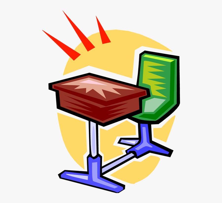 Clean Student Desk Clipart - Clean Desk Clip Art, Transparent Clipart